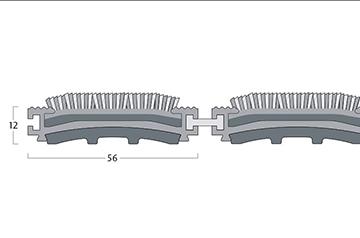 Esplanade 6000 - 12 mm H. - 56 mm Br.