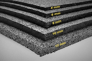 SBR Granulaat rubber dikte vanaf 4 mm - 10 m