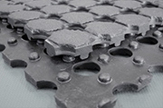 Ringmat/rol - open structuur - rechte randen 10 mm