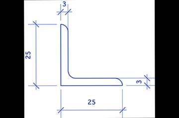 Matkader roestvrijstaal  25 mm